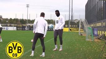 Borussia Dortmund faz último treino antes de enfrentar o Arminia Bielefeld. DUGOUT