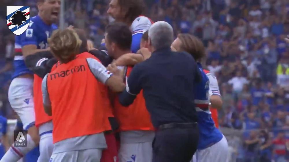 Le but exceptionnel de Candreva contre l'Udinese. Dugout