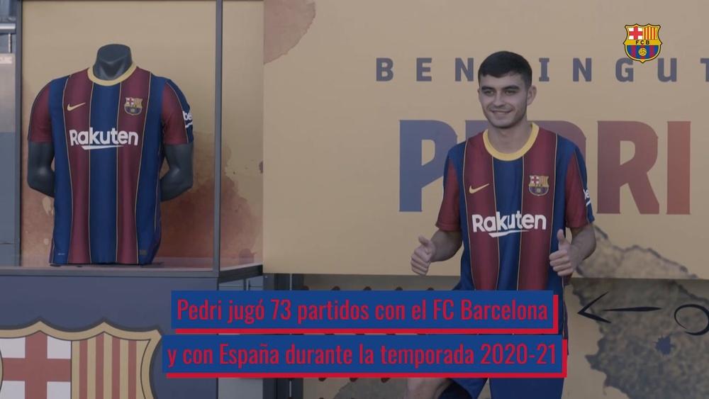 Pedri, la gran esperanza del nuevo Barça. Captura/Dugout