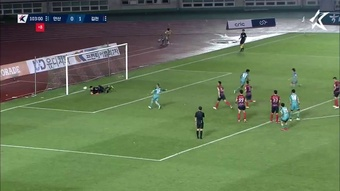 Asnawi misses stoppage-time penalty. DUGOUT