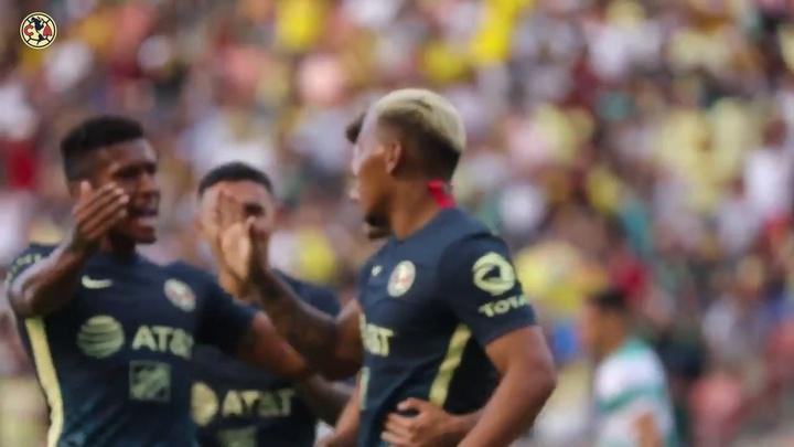 VÍDEO: el gol de Roger Martínez a Santos Laguna, a pie de campo. DUGOUT