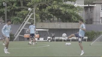 Santos finaliza preparação para o duelo contra o Fluminense. DUGOUT