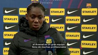 Oshoala anotó un gol en la Champions frente al Arsenal. DUGOUT