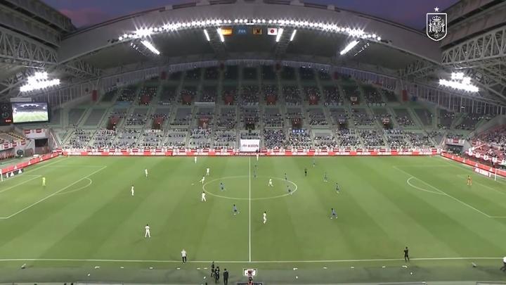 España Sub 23y Japón Sub 23 empataron a uno. DUGOUT