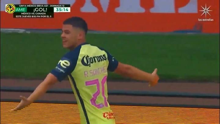 Richard Sánchez abrió la lata en el América-Pumas. DUGOUT