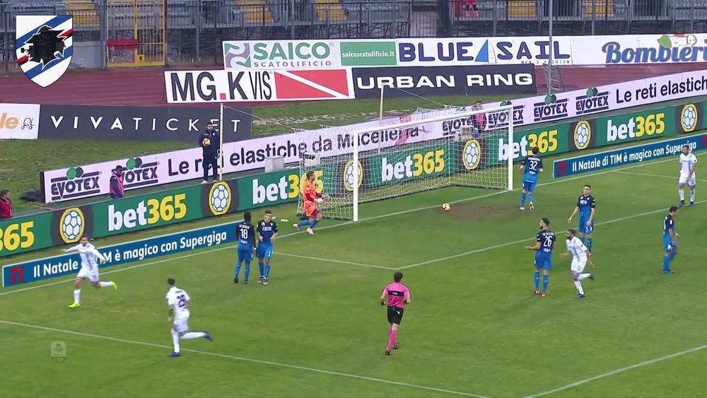 I gol che hanno portato la Samp a trionfare sull'Empoli. Dugout