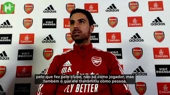Arteta fala do reencontro com Patrick Vieira.