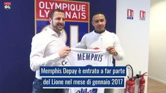 La carriera di Memphis Depay nel Lione. Dugout