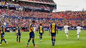 El 0-3 de Tigres ante Atlético San Luis, a pie de campo. Captura/DUGOUT