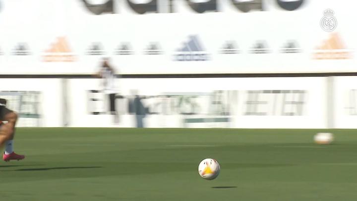 Así fue el entrenamiento del viernes del Real Madrid. Dugout