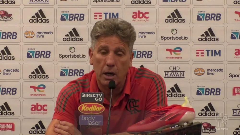 Renato Gaúcho desmente informações sobre poupar jogadores do Flamengo. DUGOUT