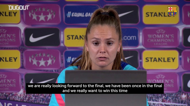 Lieke Martens previewed Barcelona's CL final with Chelsea. DUGOUT