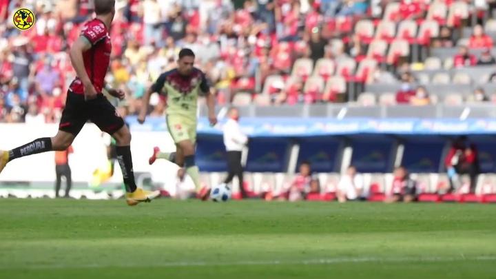 Córdova anotó el gol del triunfo ante Atlas. Dugout