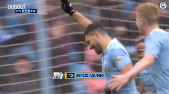 Agüero marcó un doblete en su último día en el City. DUGOUT