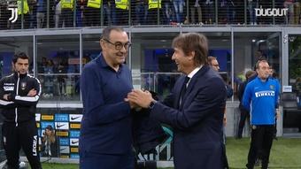La Juve batte l'Inter a San Siro. Dugout