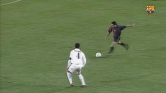 VÍDEO: el primer gol de Xavi en un 'Clásico'. DUGOUT