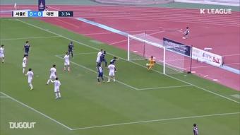 Richard Sukuta-Pasu scored some great goals in the K League 2. DUGOUT