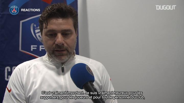 Les réactions de Pochettino et Di Maria après la Coupe de France. Dugout