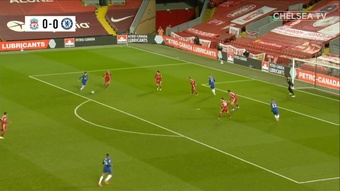 Mason Mount got the only goal as Chelsea won at Liverpool. DUGOUT