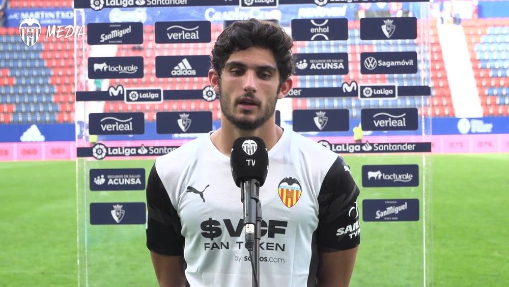 Guedes habló tras la victoria del Valencia. DUGOUT
