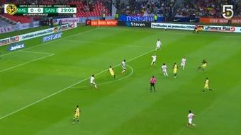 El América le ganó a Santos Laguna por 2-1. DUGOUT