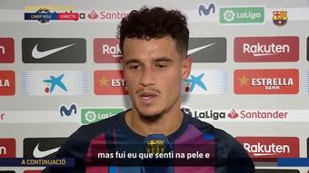 Coutinho explica grito em comemoração de gol. DUGOUT