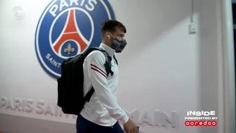 Les coulisses de la victoire du PSG contre Angers. Dugout