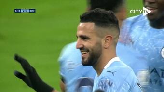 Riyad Mahrez struck three times in 5-0 win over Burnley. DUGOUT