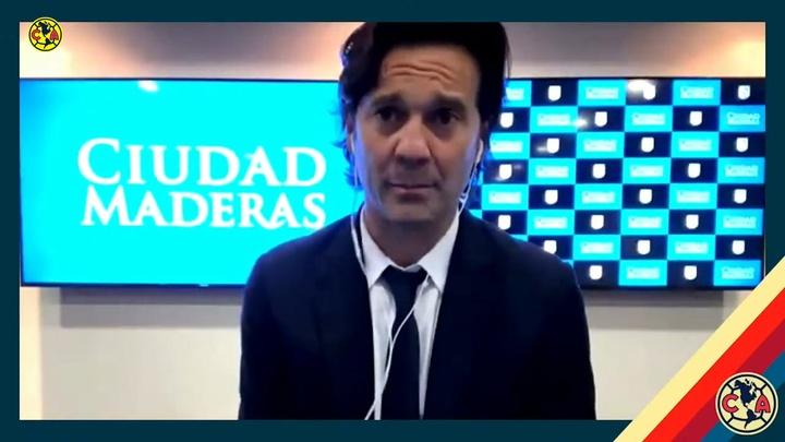 Solari habló tras el debut del América. DUGOUT