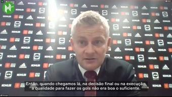 Solskjaer lamenta derrota do United e diz que empate seria mais justo. DUGOUT
