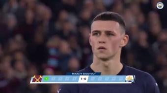L'élimination de Man City contre West Ham. Dugout