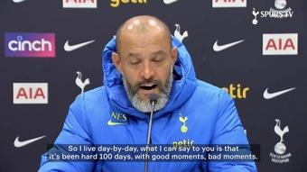 Tottenham boss Nuno Espirito Santo has spoken ahead of the Newcastle game. DUGOUT