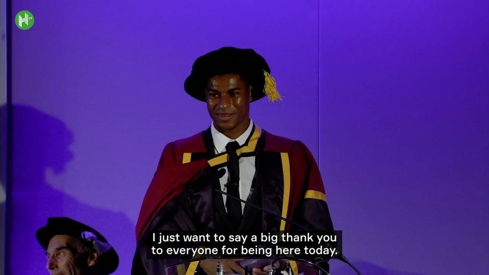Rashford receives honorary degree. DUGOUT