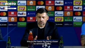 Sergio Conceicao was delighted aftet Porto got their first win in the CL. DUGOUT