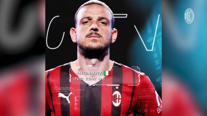 L'AC Milan annonce Alessandro Florenzi. Dugout
