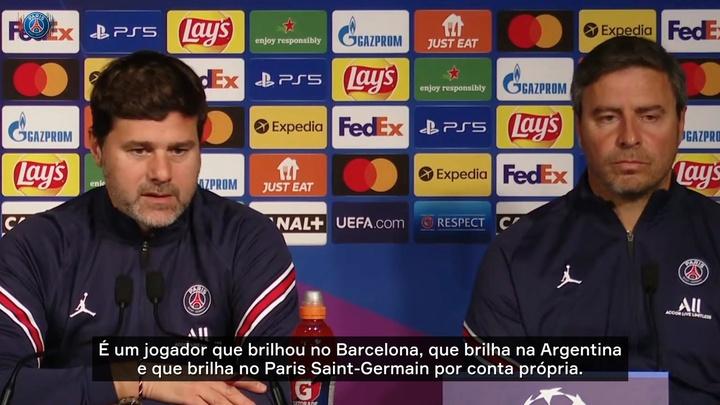 Pochettino diz que Messi está 'totalmente adaptado' ao Paris Saint-Germain. DUGOUT
