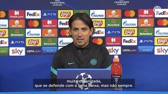 Inzaghi e Skriniar analisam duelo entre Inter e Sheriff na Liga das Campeões. DUGOUT