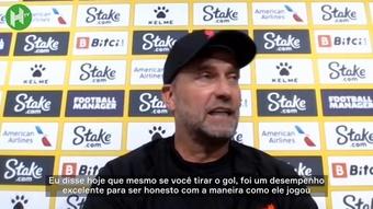 Klopp elogia trio de ataque do Liverpool e especialmente Salah. DUGOUT