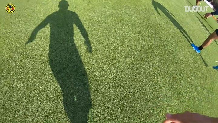 Richard Sánchez grabó con una cámara su propio entrenamiento. DUGOUT/América