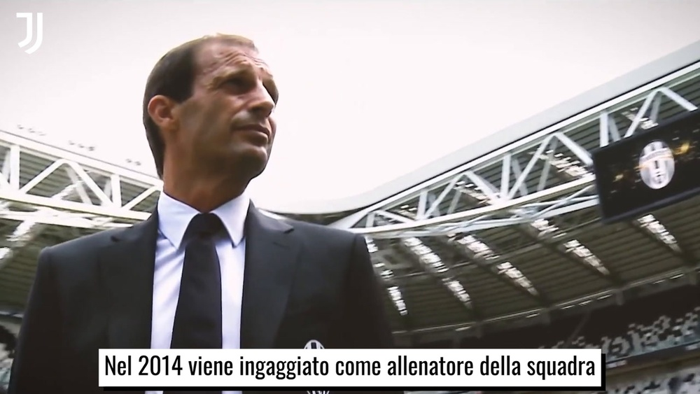 Il successo della Juventus con Allegri. Dugout