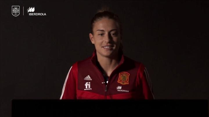 VÍDEO: Alexia, pletórica tras hacer historia con España. DUGOUT