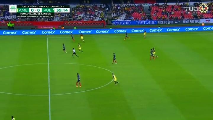 Roger Martínez inauguró el marcador ante Puebla. Dugout