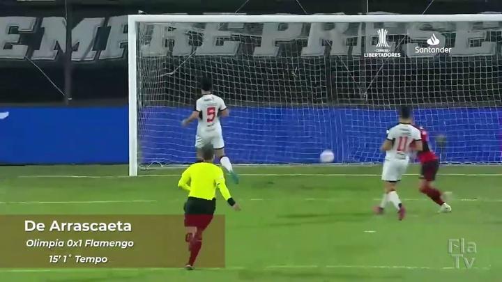 Flamengo got a commanding first leg lead against Olimpia. DUGOUT