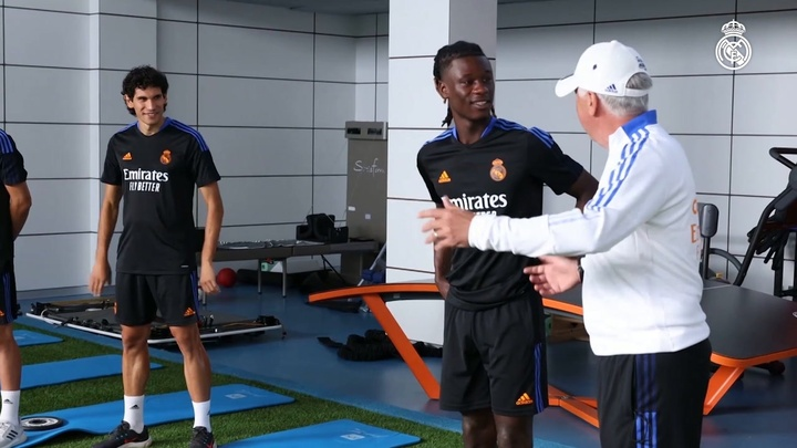 Camavinga has now trained at Real Madrid. DUGOUT