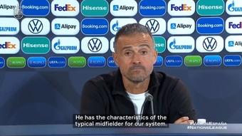 Luis Enrique talks about Gavi's impressive performance
