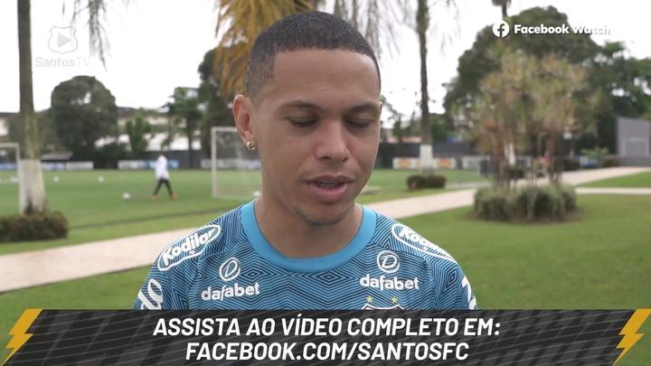Marcos Guilherme diz que Santos está pronto para clássico contra o São Paulo. DUGOUT