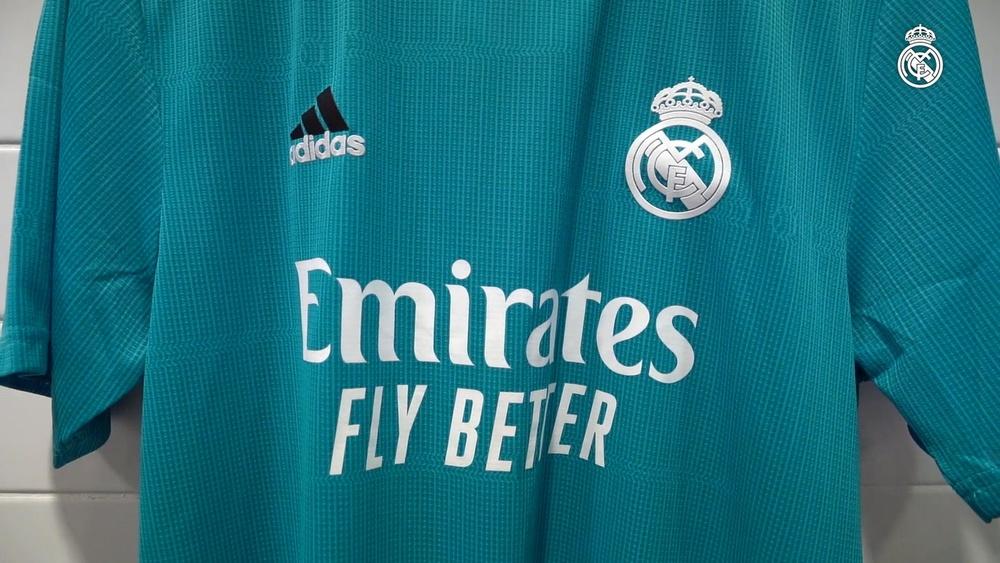 Il Real Madrid e Adidas presentano il loro terzo kit per la stagione 2021-22. Dugout
