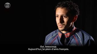 La French interview de Marquinhos. Dugout