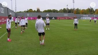 Último treino do Bayern antes de encarar o Benfica.