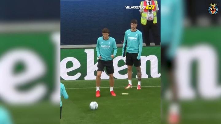 VIDEO : Villarreal prépare la Supercoupe d'Europe. AFP